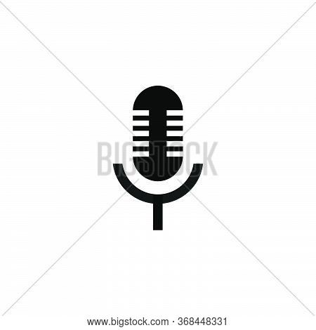 Microphone Icon.microphone Symbol For Web And Mobile Platforms.microphone Isolated On White Backgrou
