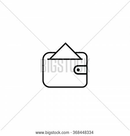 Wallet Icon.line Wallet Vector.purse Sign.wallet Icon Isolated On White Background. Eps 10 Wallet Ve