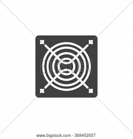 Exhaust Fan Vector Icon. Filled Flat Sign For Mobile Concept And Web Design. Exhaust Air Blower Glyp