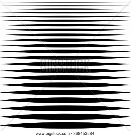 Set Of Sharp Horizontal Lines Different Profile Thickness, Vector Needle Line Design Element