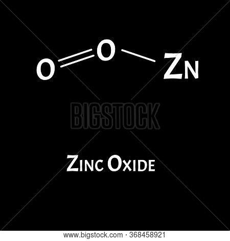 Zinc Oxide Is A Molecular Chemical Formula. Zinc Infographics. Vector Illustration On Isolated Backg