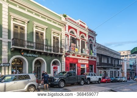 San Juan, Puerto Rico - April 29, 2019: Typical Architecture In Old San Juan, Puerto Rico, Caribbean