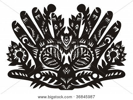 Pattern In The Form Of Palms