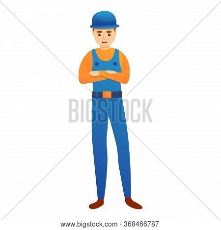 Young Repairman Icon. Cartoon Of Young Repairman Vector Icon For Web Design Isolated On White Backgr