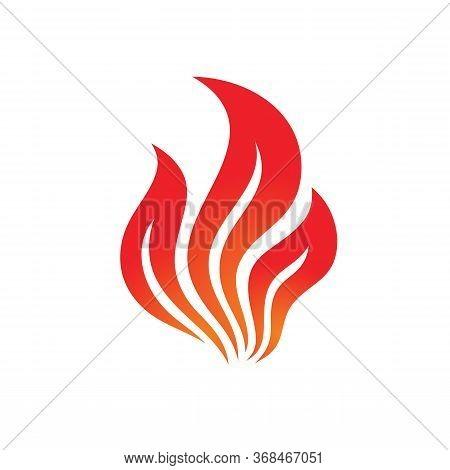 Fire Logo Graphic Design. Flame Concept Icon. Ignite Red Sign. Dangerous Vector Symbol.