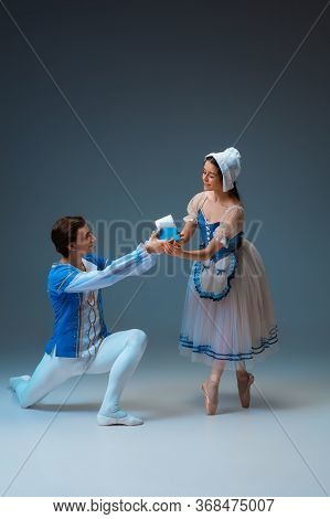 Expensive Gift For Modern Cinderella - Toilet Paper During Its Deficit. Young And Graceful Ballet Da