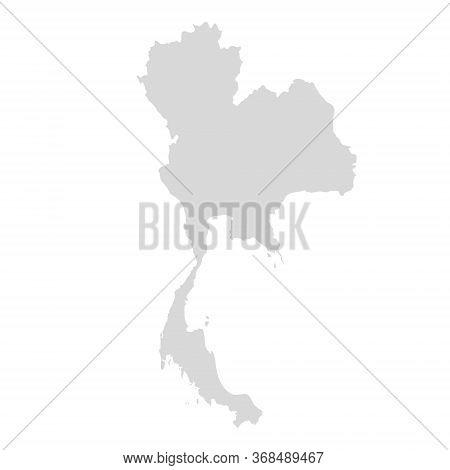Thai Vector Map Design. Thai East Asia Background Land