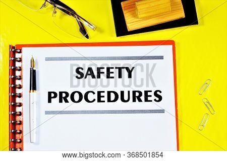 Safety Procedures-label The Document Text In The Folder. Professional Well-being And Health Of Emplo