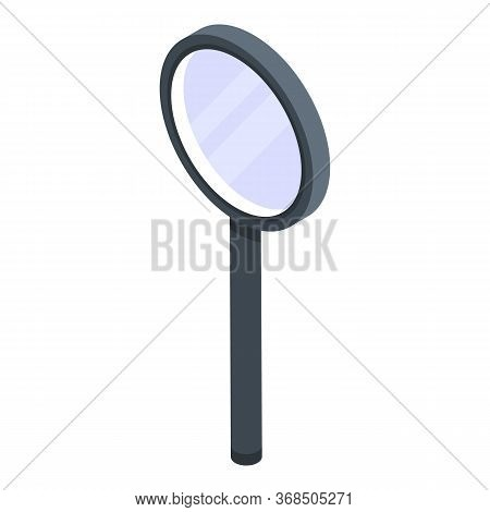 Plastic Magnifier Icon. Isometric Of Plastic Magnifier Vector Icon For Web Design Isolated On White