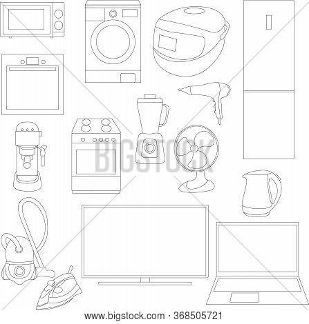 Set Of 15 Household Appliances, Home Appliances,  Iron