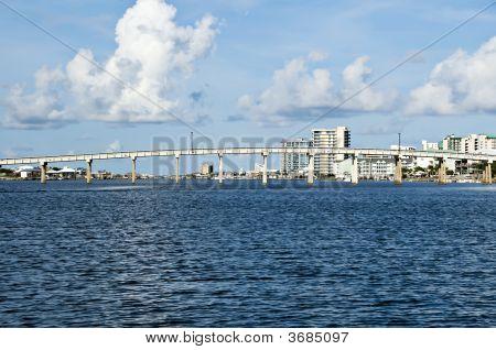 Bridge With Condo\'S In Background