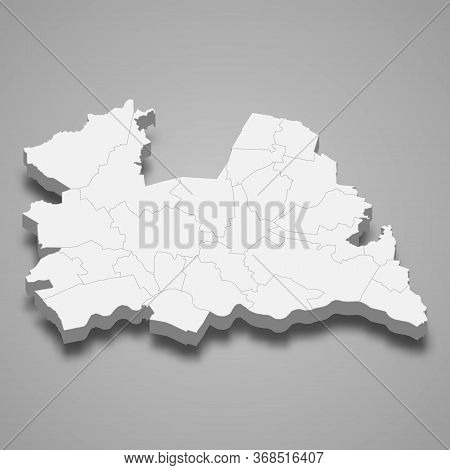 3d Map Province Of Netherlands Template For Your Design