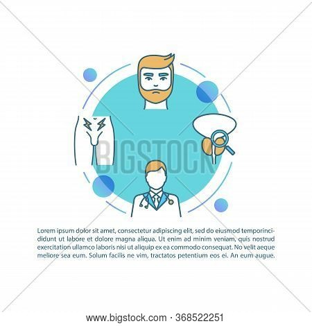 Prostatitis Treatment Concept Icon With Text. Medical Assistance With Male Healthcare Problems. Ppt