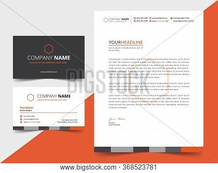 Creative Business Letterhead And Business Card Template Design