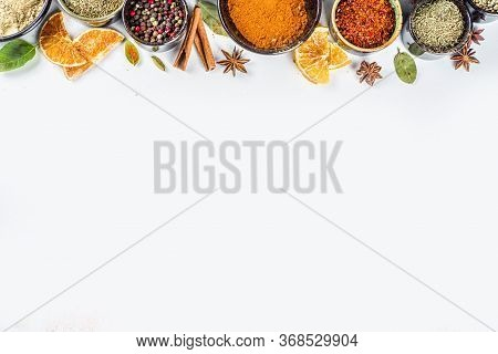 Set Of Spices And Herbs For Cooking