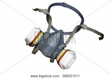 Multi-purpose Respirator Half Mask Or Toxic Dust Respirator Half Mask Isolated On White Background.