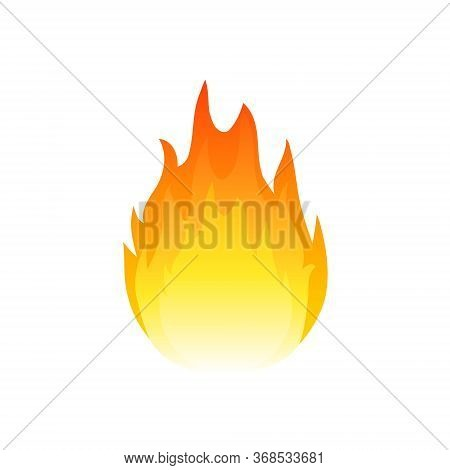 Flame Fire Vector Icon. Heat Ignite Burn Gas Hot Logo Emblem Icon