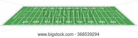 American Football Field Background. Rugby Stadium Grass Field Illustration