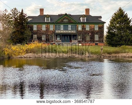 The Former Southside Sportsmen's Clubhouse Within Connetquot River State Park In Oakdale, Long Islan