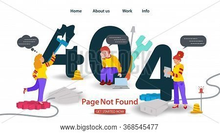 Banner Oops, 404 Error, Page Not Found, Internet Connection Problems, Girl Paints Over Error Other P