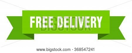 Free Delivery Ribbon. Free Delivery Isolated Sign. Free Delivery Banner