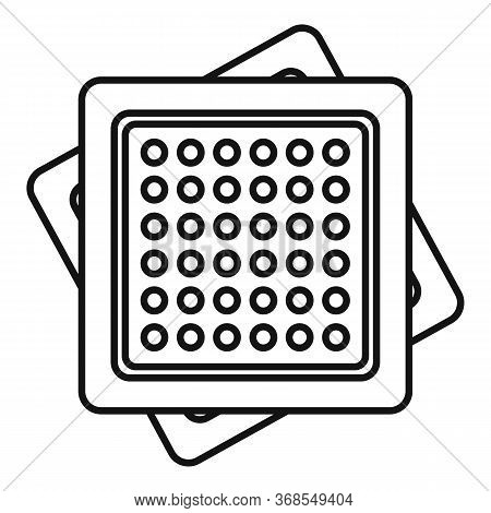 Cracker Icon. Outline Cracker Vector Icon For Web Design Isolated On White Background