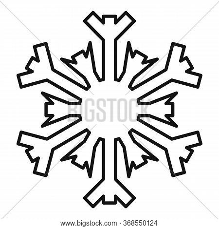 December Snowflake Icon. Outline December Snowflake Vector Icon For Web Design Isolated On White Bac