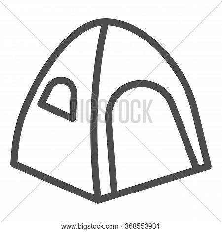 Tent Line Icon, Summer Vacation Concept, Tourist Tent Sign On White Background, Camping Tent Icon In