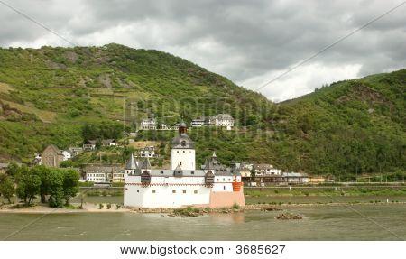 Romantic Castle Pfalzgrafenstein Near Kaub, Germany