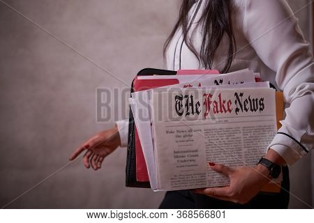 Journalist With A Fake News