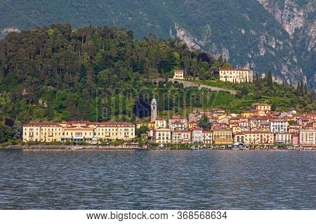 Town Bellagio At Como Lake In Italy