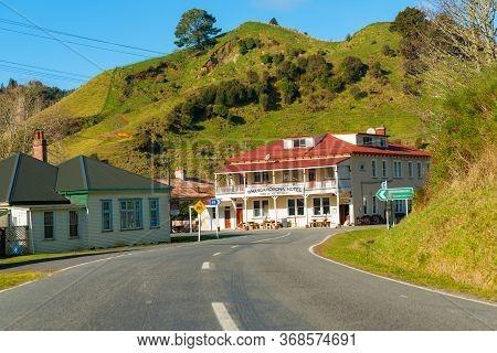 Whangamomona New Zealand - July 25 2014; The Countries Most Remote Hotel Whangamomona Hotel On Forgo