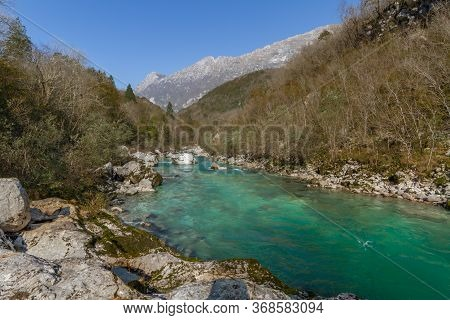 River Soca In Slovenia - Emerald Pearl Of Europe