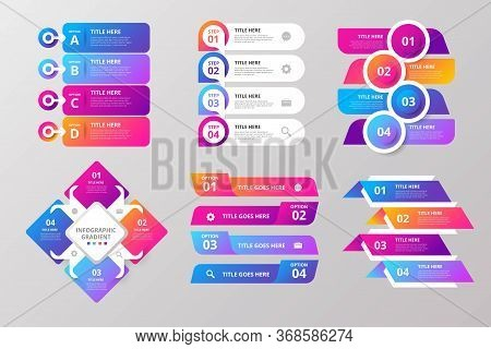 Modern Infographic Elements & Tools Business Steps Infographic Template, Can Be Used For Presentatio