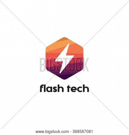 Flash Tech Logo Vector And Abstract, Thunderbolt, Travel, Unusual,