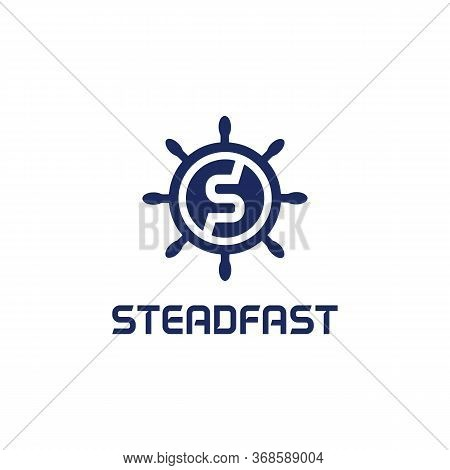 Steadfast Logo Symbol And Finance, Together, Triangle