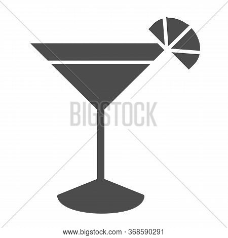 Cocktail Solid Icon, Drinks Concept, Martini Cocktail Sign On White Background, Cocktail Glass With