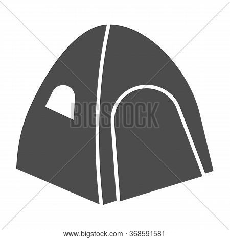 Tent Solid Icon, Summer Vacation Concept, Tourist Tent Sign On White Background, Camping Tent Icon I