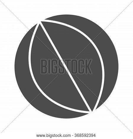 Beach Ball Solid Icon, Summer Vacation Concept, Rubber Beachball Sign On White Background, Toy Ball