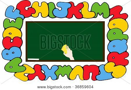 School board with alphabet
