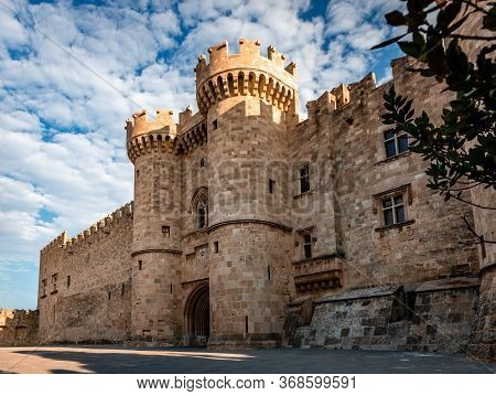 The Palace Of The Grand Master Of The Knights Of Rhodes (a.k.a. The Castello), A Medieval Castle In