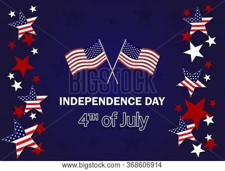 Happy Independence Day Poster, 4th of July. Happy Independence Day - Fourth of July background. Fourth of July design. USA Independence Day banner. Vector illustration.