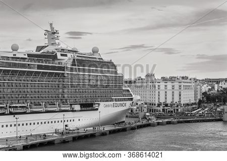San Juan, Puerto Rico - April 29, 2019: Celebrity Equinox Cruise Ship In Port Of San Juan, Puerto Ri