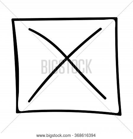 Yes No Check Mark X Marks Vote Test Answer Drawn.vector Illustration