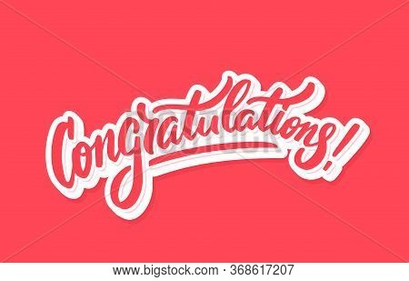 Congratulations. Greeting Card. Vector Hand Drawn Illustration.