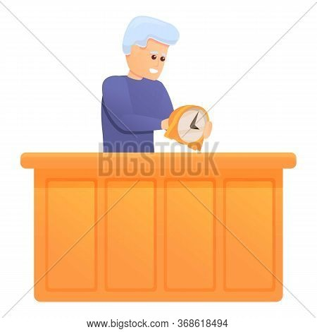 Repairman Watch Icon. Cartoon Of Repairman Watch Vector Icon For Web Design Isolated On White Backgr