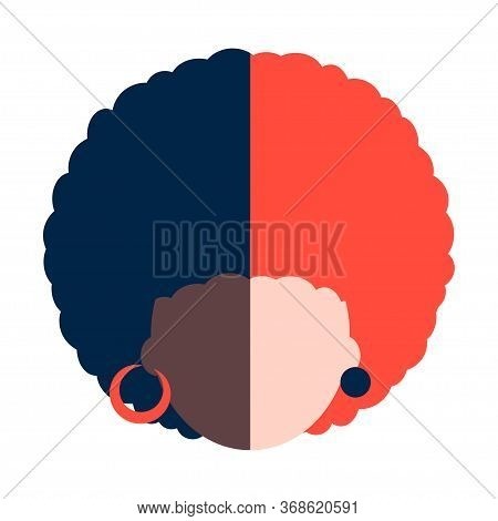 Illustration Of A Multinational Woman. White-skinned And Black-skinned Woman. Modern Abstract Design