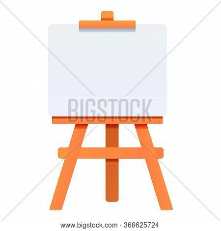 Gallery Easel Icon. Cartoon Of Gallery Easel Vector Icon For Web Design Isolated On White Background