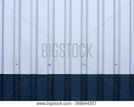 Gray-blue Metal Siding Texture, Full Frame, Metal Sheet