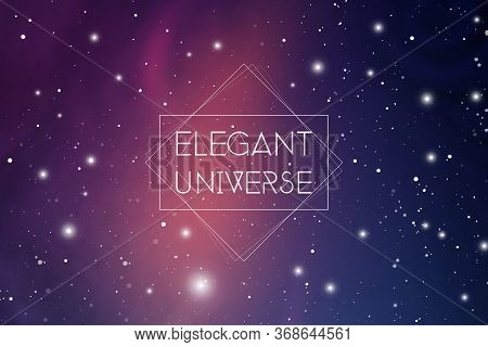 Elegant Universe Scientific Outer Space Wallpaper. Astrology Mystic Galaxy Background.